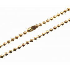 GOROM Stainless Steel Ball Chain Gold
