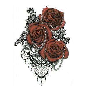 Temporary Tattoo RED ROSES