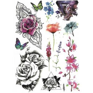 Temporary Tattoo DREAM OF FLOWERS