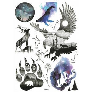 Temporary Tattoo FOREST ANIMALS
