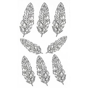 Temporary Tattoo CRYSTAL FEATHERS