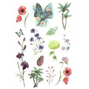Temporary Tattoo MIX OF FLOWERS