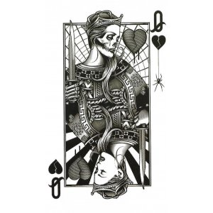Temporary Tattoo PLAYING CARD
