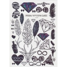 FEATHERS & JEWELERY Temporary Tattoo