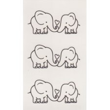ELEPHANTS 1 Temporary Tattoo