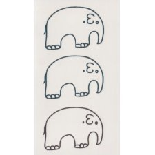 ELEPHANTS 2 Temporary Tattoo