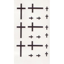 CROSS 2 Temporary Tattoo