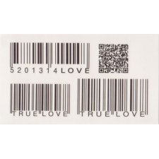 BARCODE Temporary Tattoo