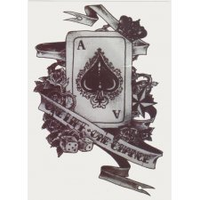 PLAYINGCARD Temporary Tattoo